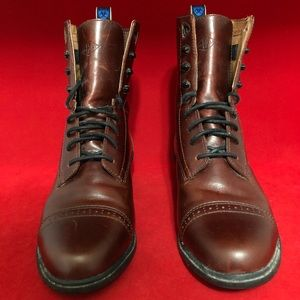 Ariat Burgundy Leather Lace Up Paddock Boots 56661